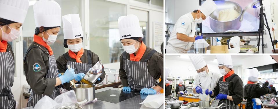 普通科 製菓コースの授業風景2